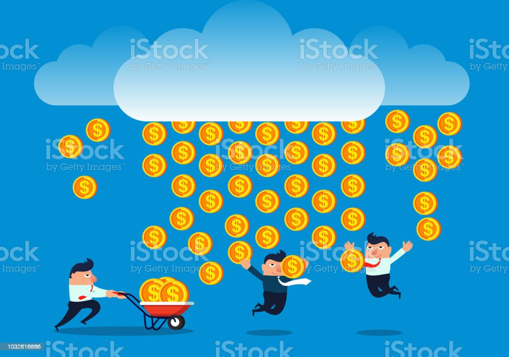 Money rain royalty-free money rain stock vector art & more images of achievement
