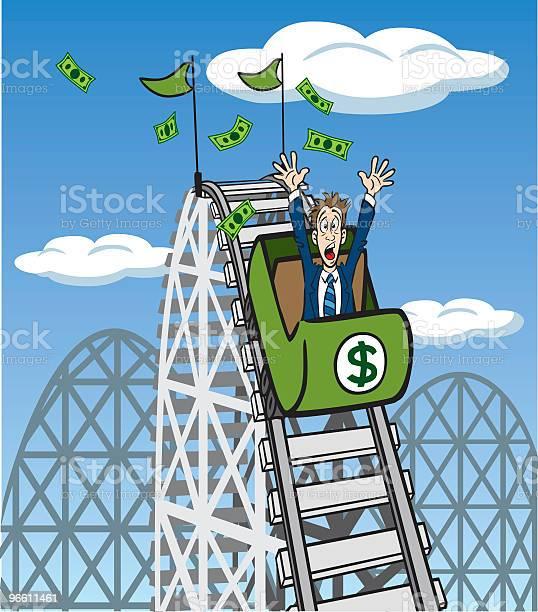 Money Roller Coaster-vektorgrafik och fler bilder på Affärsman