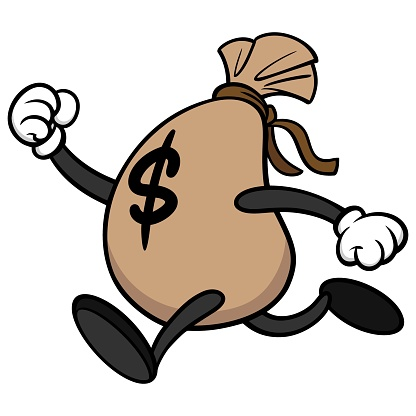 Money Running Away