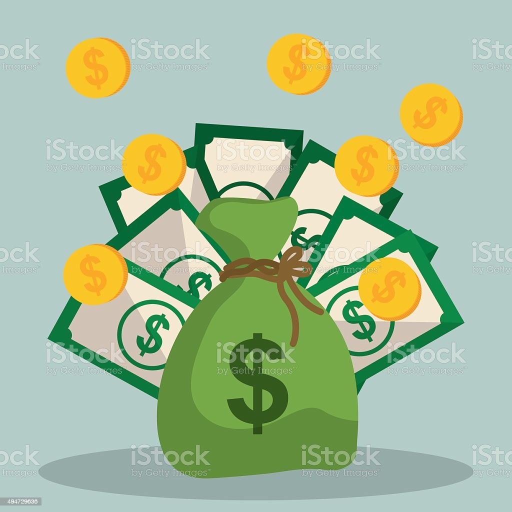 Money saving and business vector art illustration