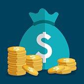 Money saving, business and finance design.