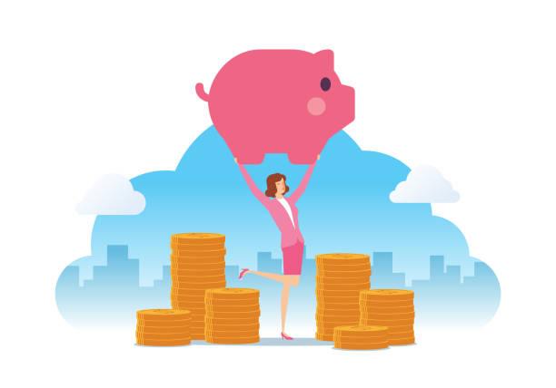 Money Saving vector art illustration