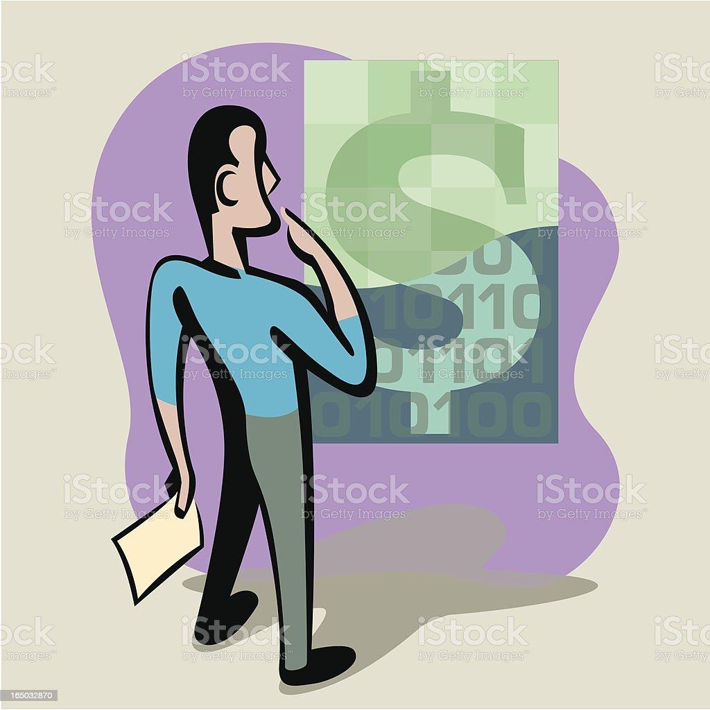 Money Sense royalty-free stock vector art