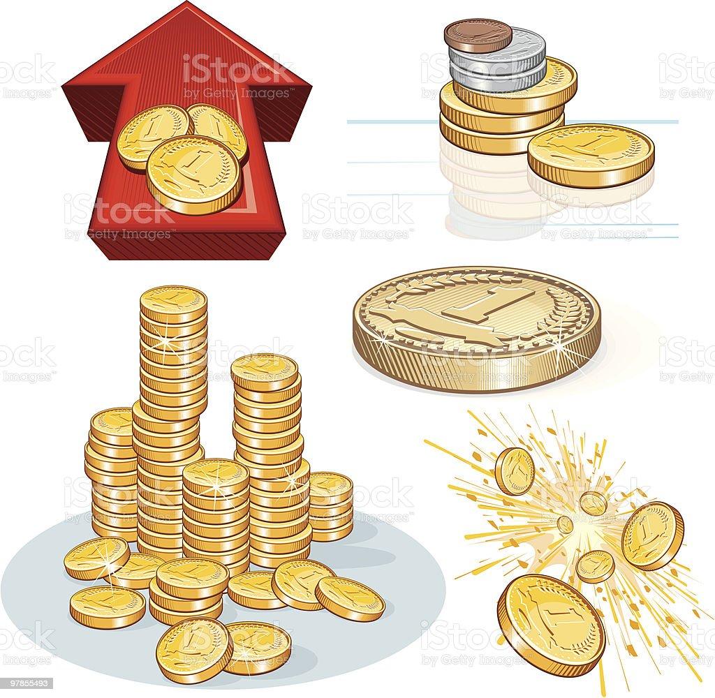 Money Set royalty-free money set stock vector art & more images of arrow symbol