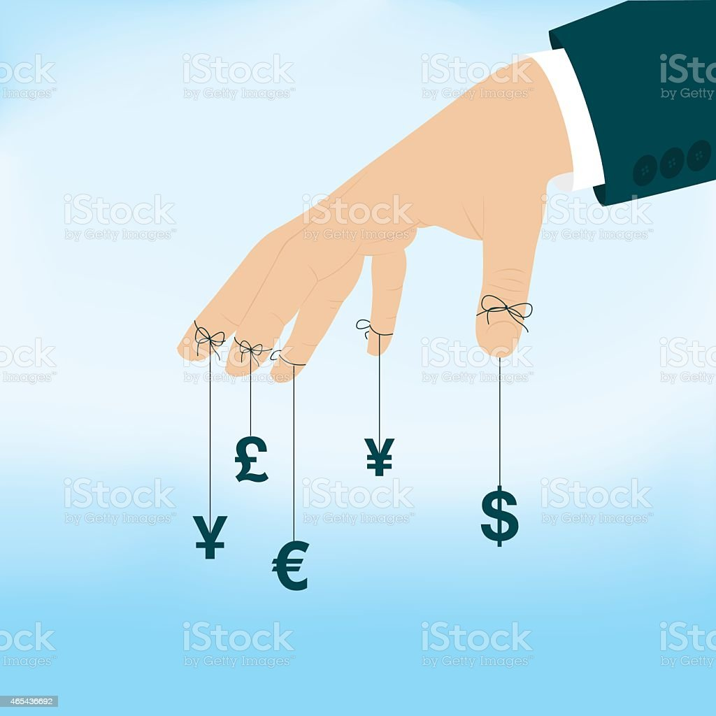 Money Speculation vector art illustration