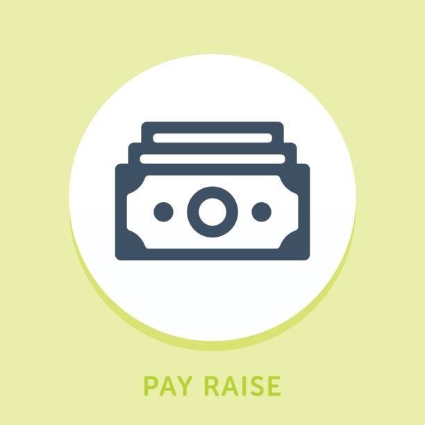 Money Stack Curve Icon Curved Style Line Vector Icon for Pay Raise. minimum wage stock illustrations