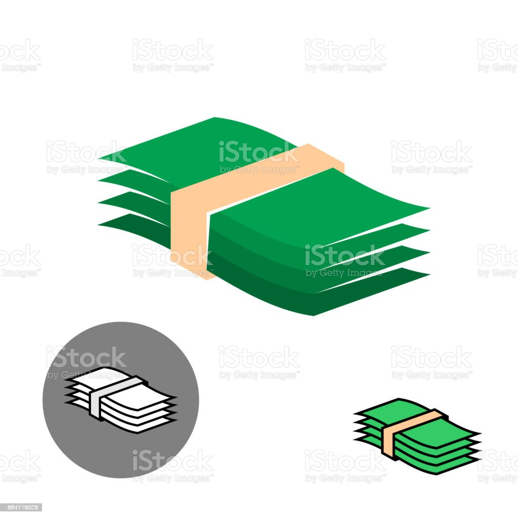 Money stack green color icon. royalty-free money stack green color icon stock vector art & more images of bank