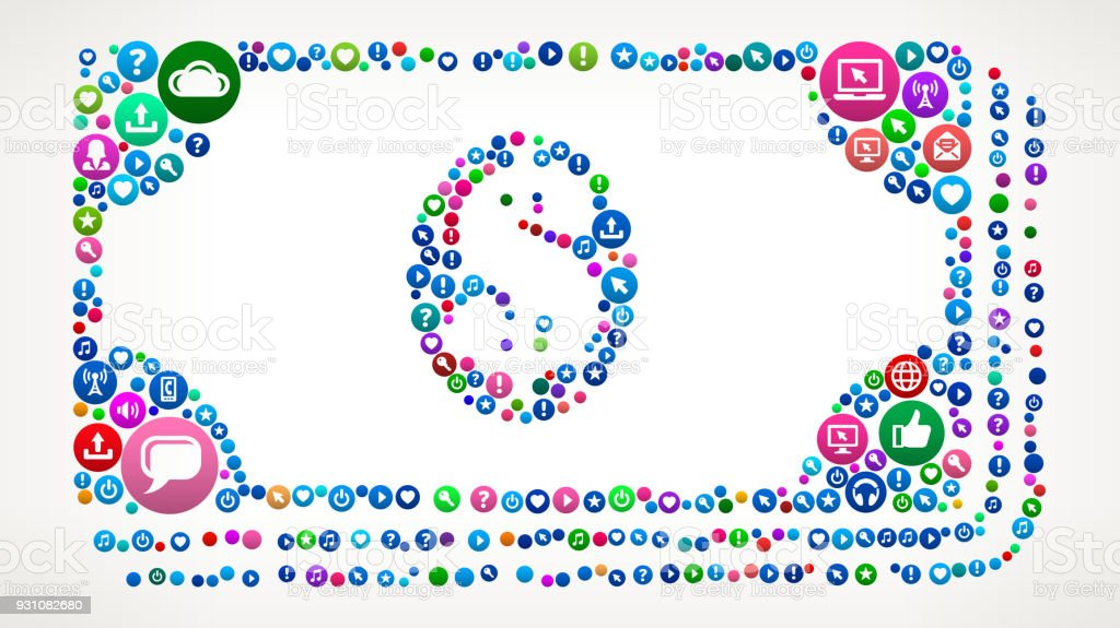 Money Stack Internet Communication Technology Icon Pattern vector art illustration