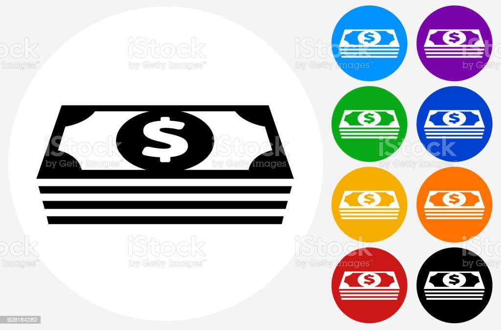 Money stack of US Dollars. vector art illustration
