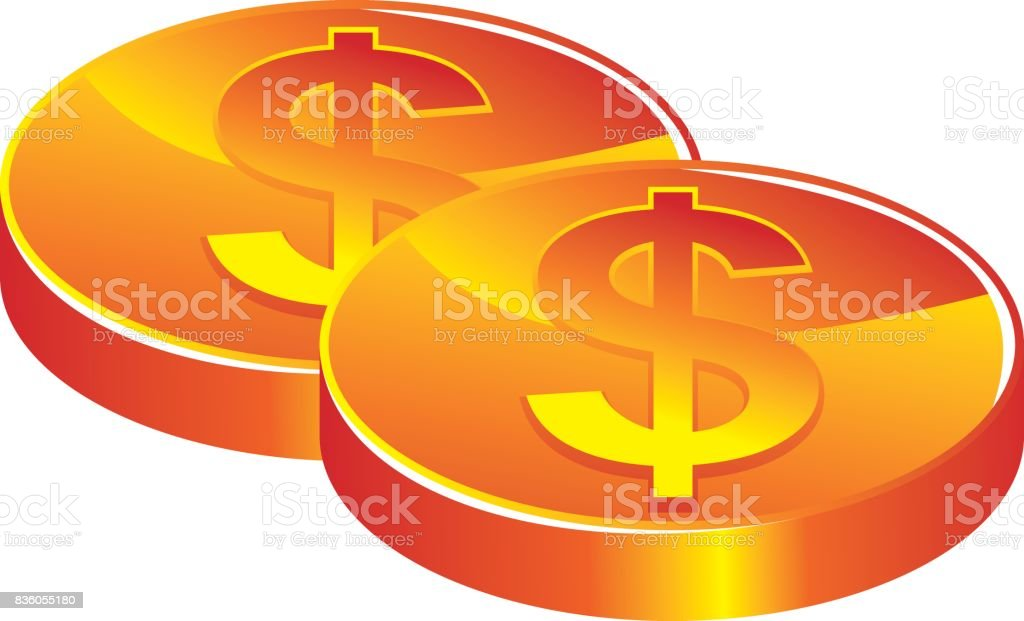 Money Stack vector art illustration