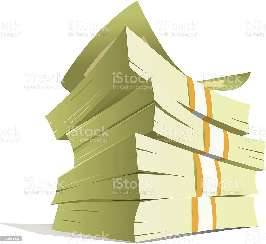 money stack vector illustration vector art illustration
