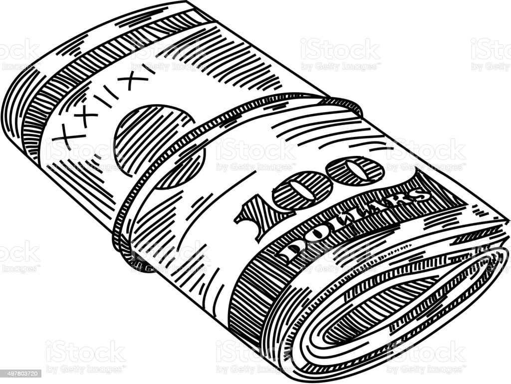Line Art Money : Money stacks drawing stock vector art more images of