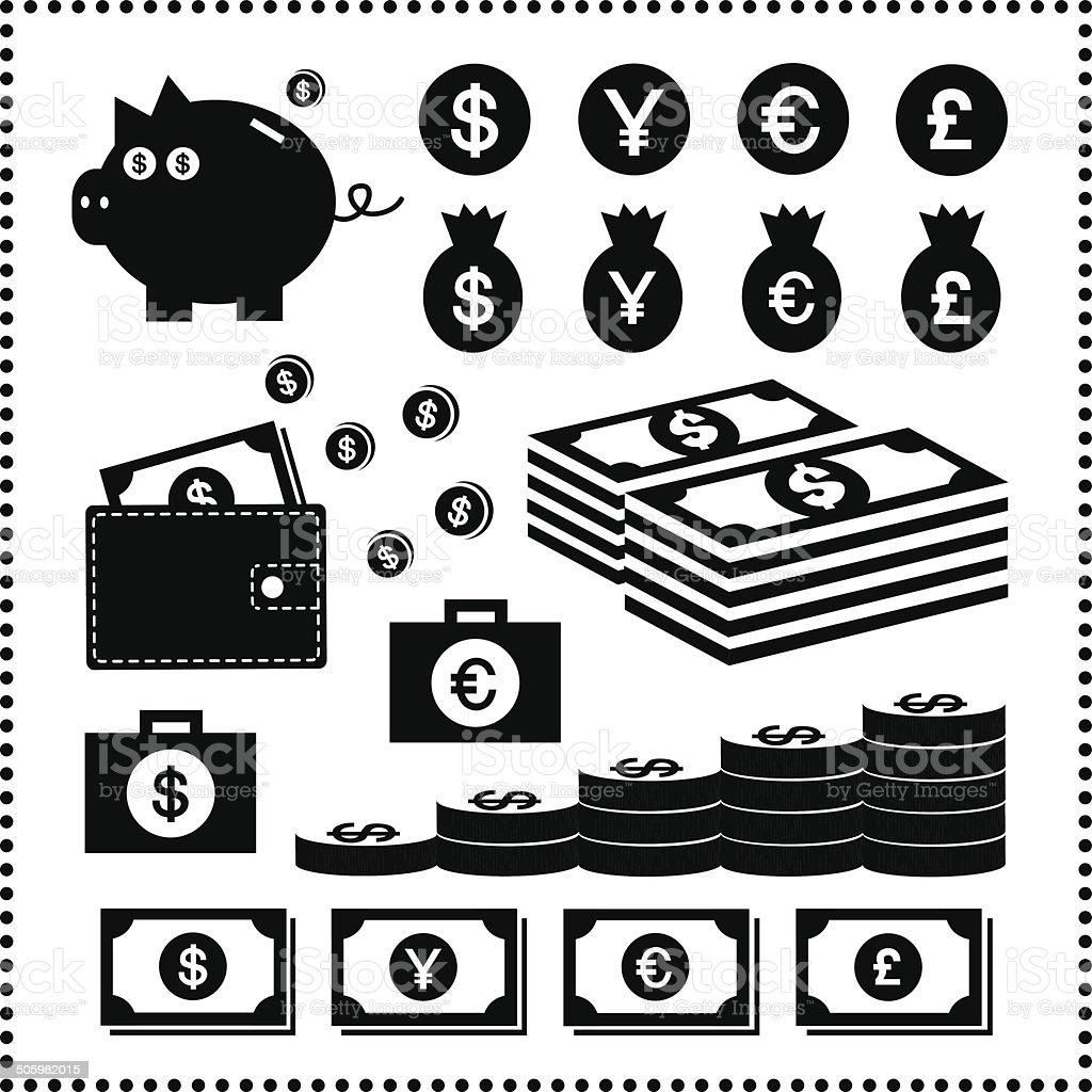 money symbol vector art illustration