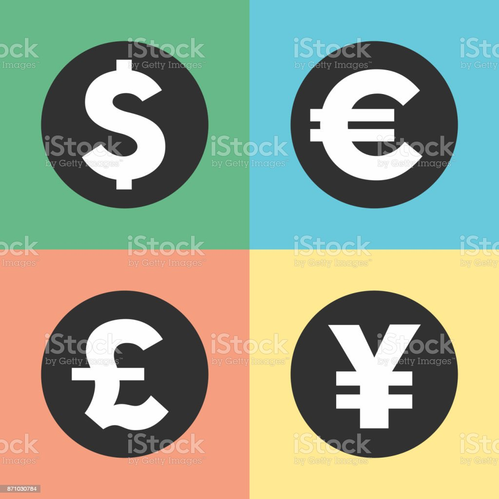 Money Symbols Icons Stock Vector Art More Images Of Bank 871030784