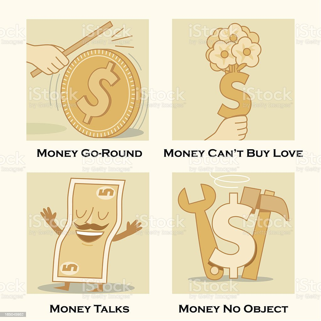 Money Themes vector art illustration