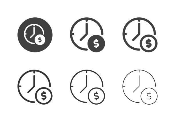 Money Time Icons - Multi Series vector art illustration