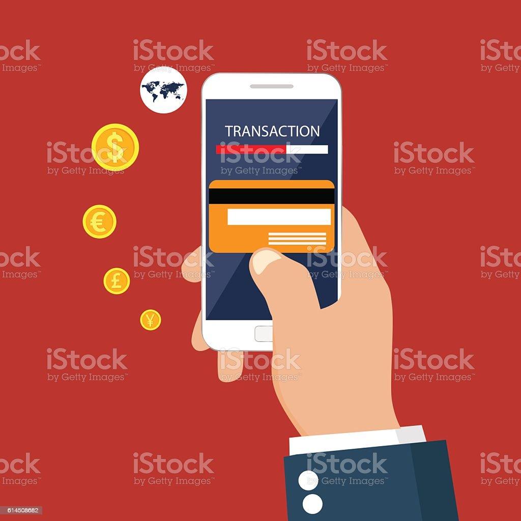 Money transaction vector art illustration