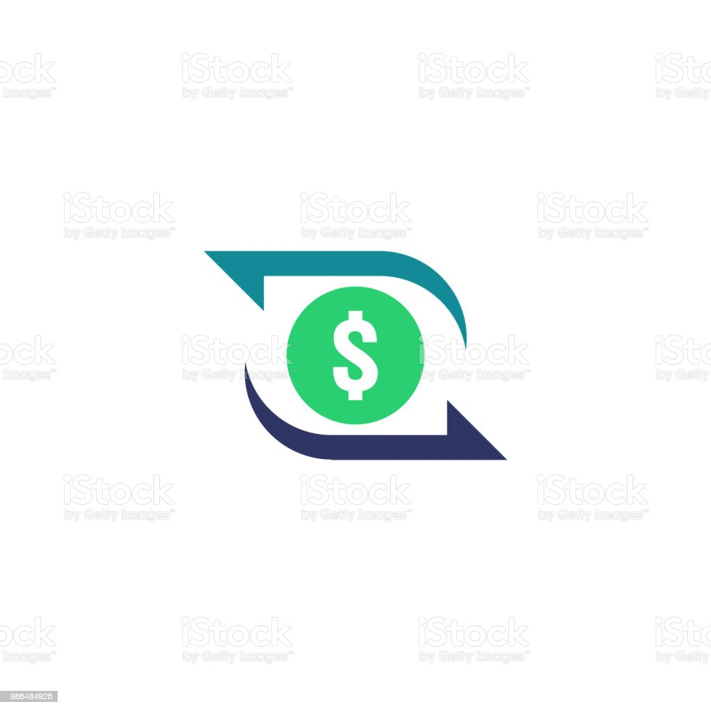 Money Transfer Icon Chargeback Contour Sign Quick Fund Cash Back