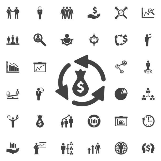 geldtransfer symbol. - geldstrafe stock-grafiken, -clipart, -cartoons und -symbole