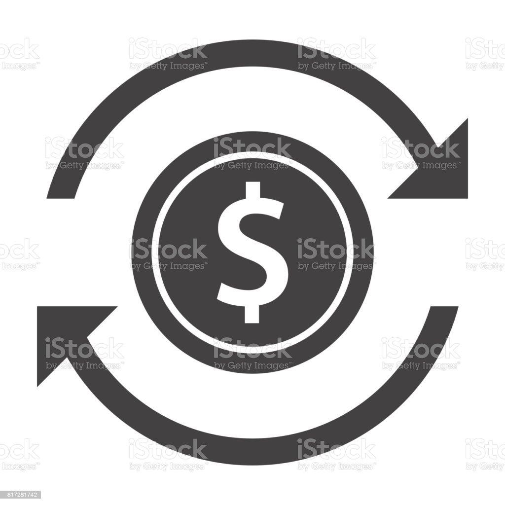 Money Transfer Icon vector art illustration