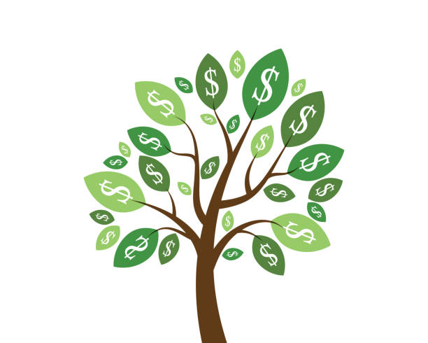 Money Tree Prosperity Symbol Logo Money Tree Prosperity Symbol Logo alimony stock illustrations