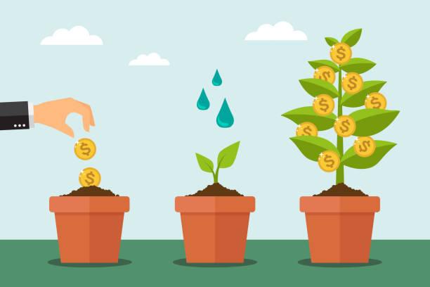 Árbol del dinero - ilustración de arte vectorial