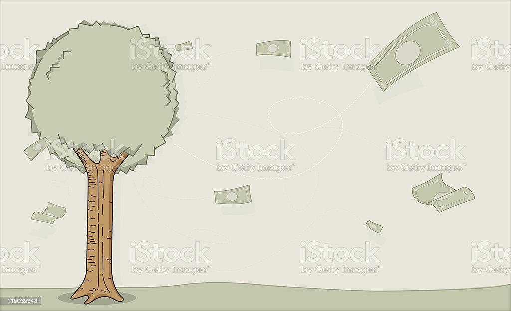 Money tree royalty-free money tree stock vector art & more images of autumn