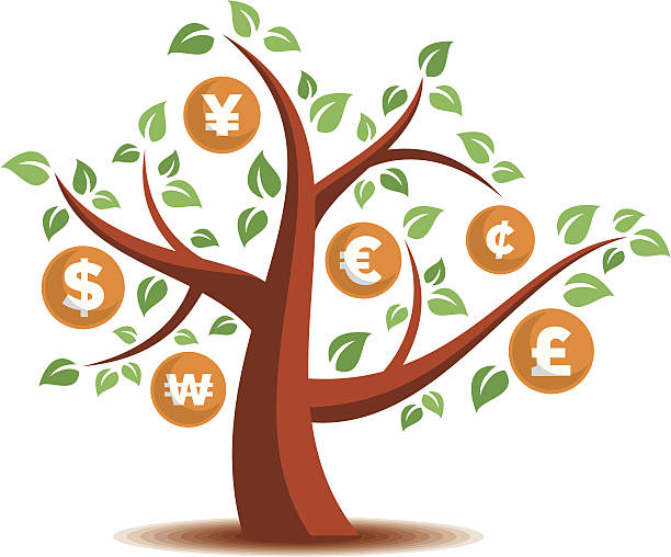 Money Tree Money Tree taiwanese currency stock illustrations
