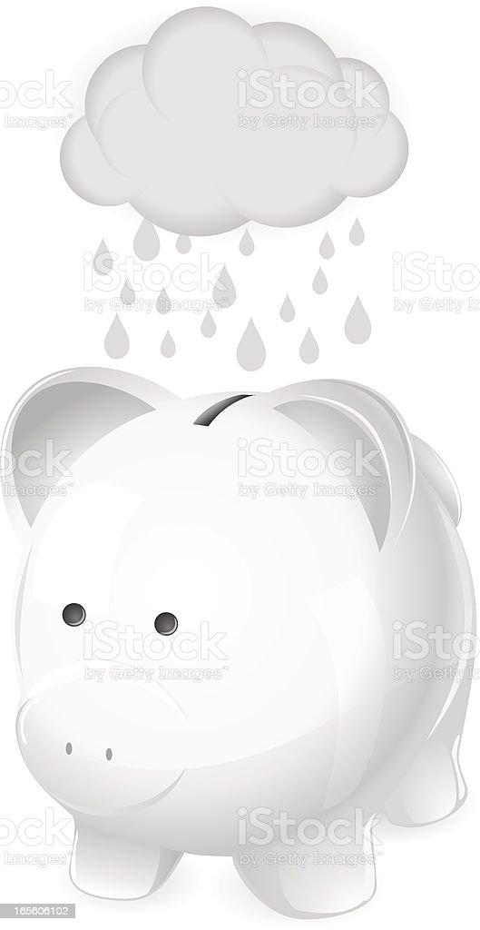 Money troubles. Concept illustration for recession, debt, financial problems. vector art illustration