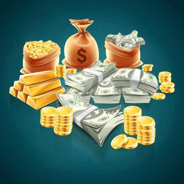 money money illustration millionnaire stock illustrations