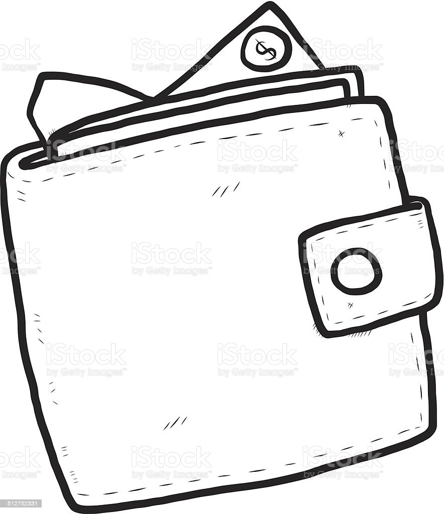 royalty free cartoon of leather wallet clip art vector