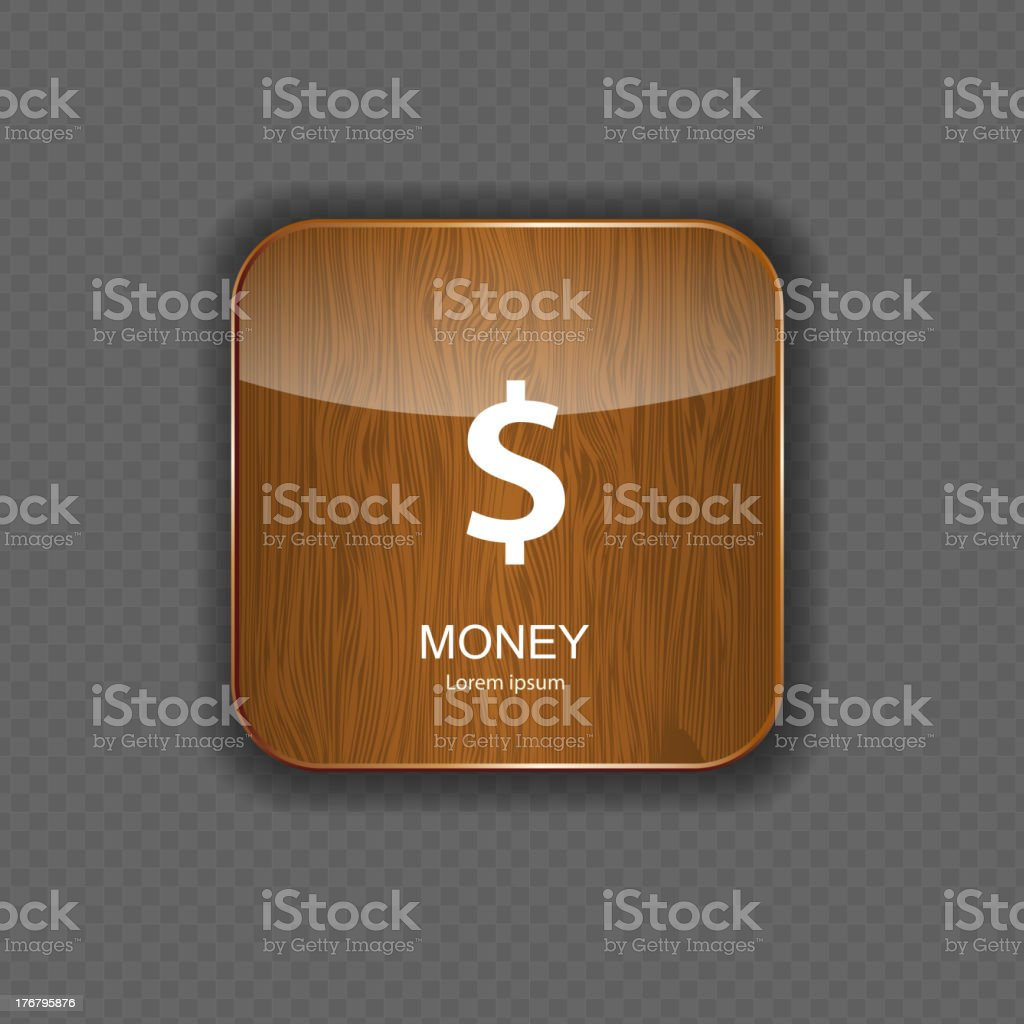 Money wood application icons royalty-free money wood application icons stock vector art & more images of application form