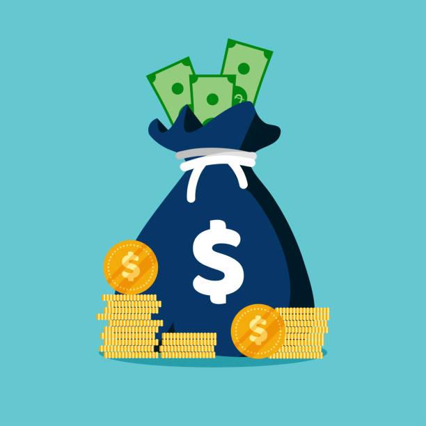 ilustraciones, imágenes clip art, dibujos animados e iconos de stock de moneybag simples infografías de dibujos animados aislados sobre fondo azul. moneybag simples infografías de dibujos animados aislados sobre fondo azul. - taxes