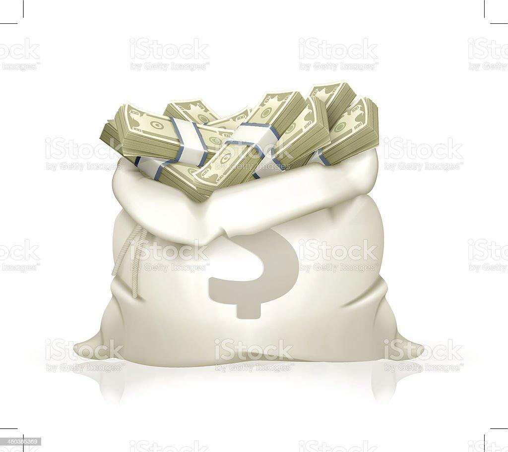 Moneybag vector art illustration