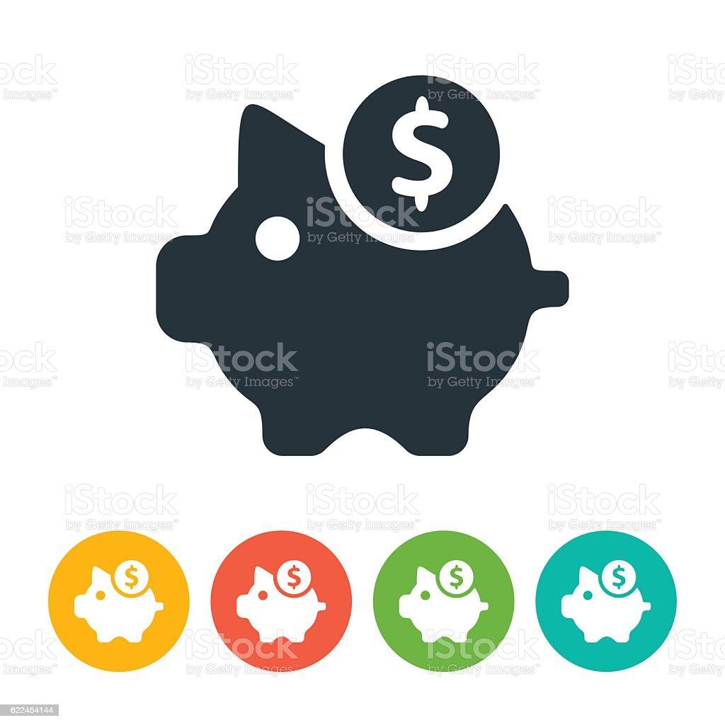 Moneybox icon vector art illustration