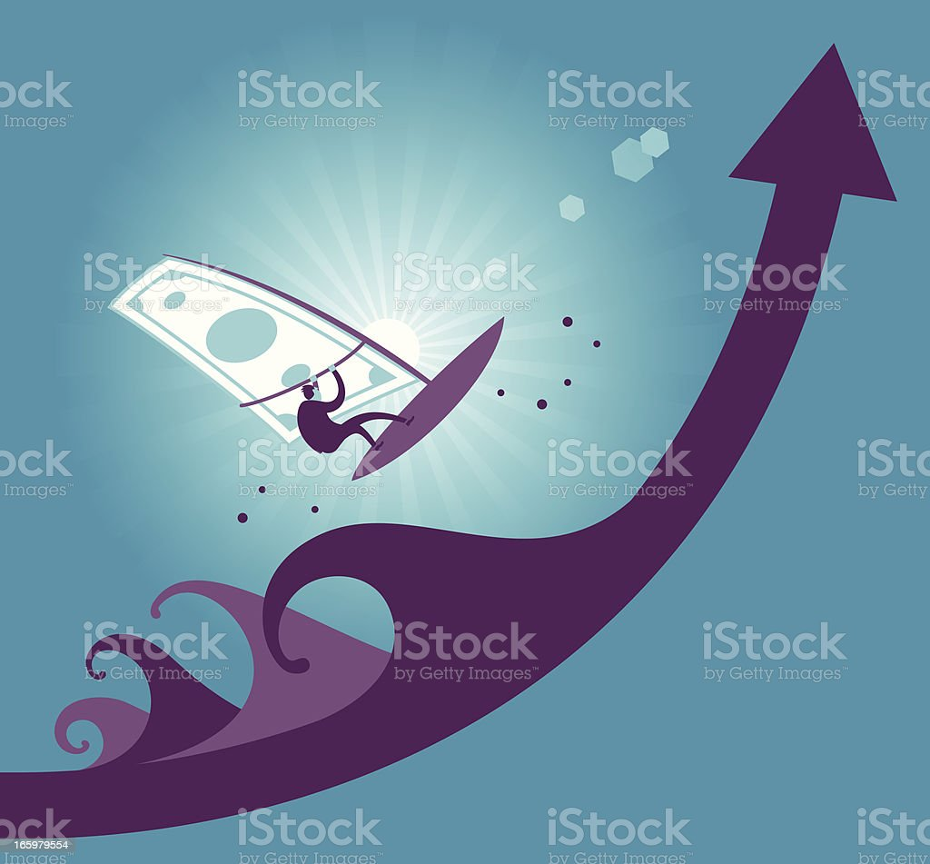 moneysurfer royalty-free stock vector art