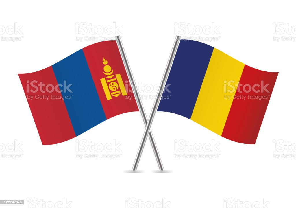 Mongolia and Romania flags. Vector illustration. royalty-free mongolia and romania flags vector illustration stock vector art & more images of couple - relationship