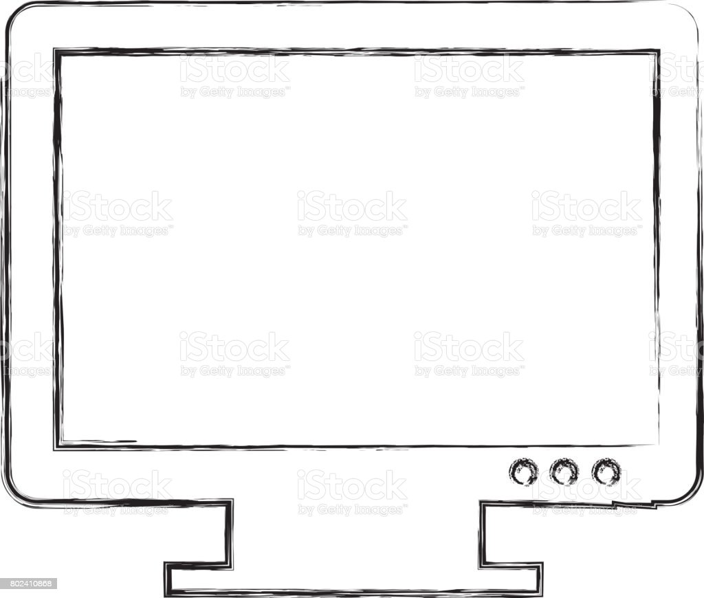 Monitor Computer Desktop Isolated Icon Stock Vector Art More