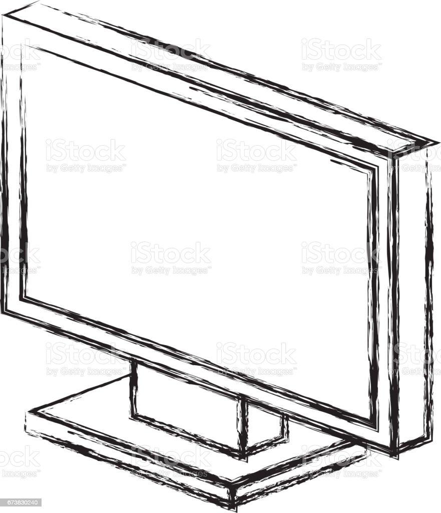 icône isolé du moniteur ordinateur icône isolé du moniteur ordinateur – cliparts vectoriels et plus d'images de arts culture et spectacles libre de droits