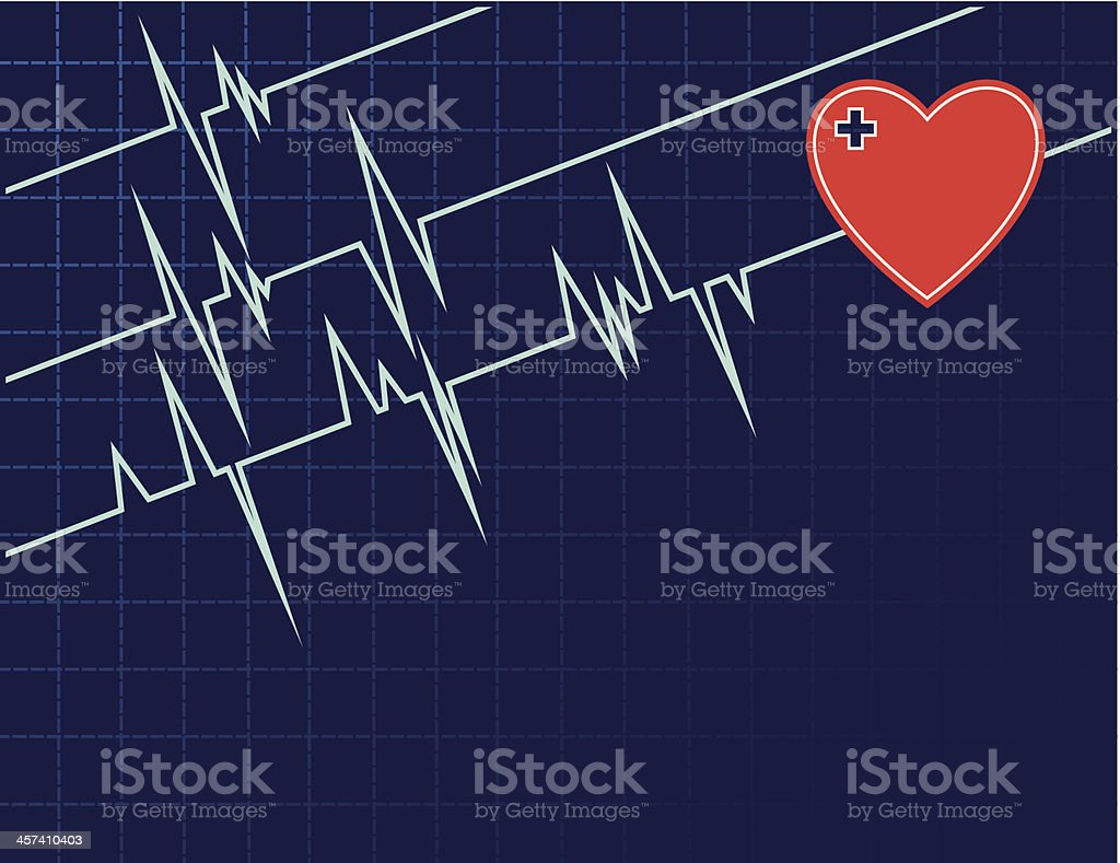 monitor ecg background royalty-free monitor ecg background stock vector art & more images of accidents and disasters