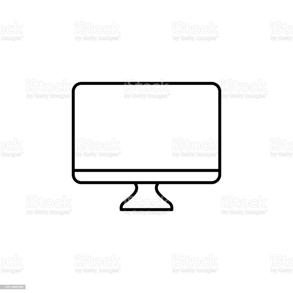 Ilustración De Icono Del Monitor Elemento De Simple Icono De
