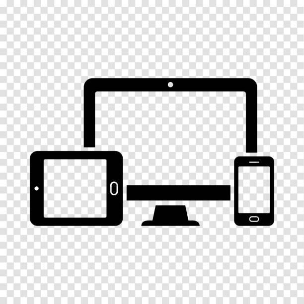 Bildschirm, Smartphone, tablet-Symbol – Vektorgrafik