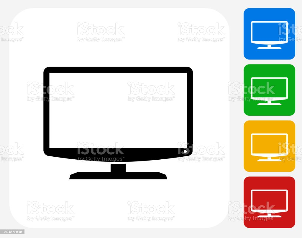 Monitor. vector art illustration