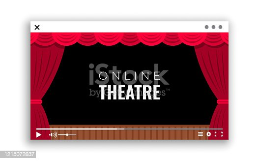 istock A monitor window with online video broadcast of the performance from the theater 1215072637