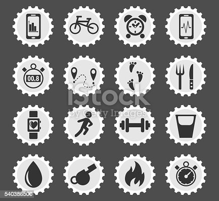 monitoring apps web icons for user interface design