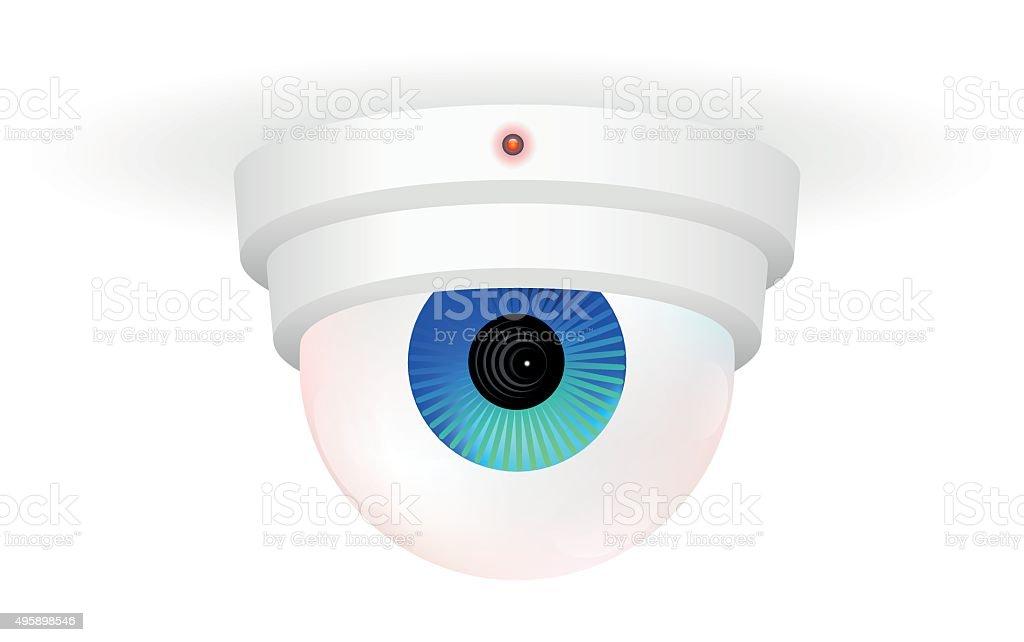 CCTV Monitoring Camera Eye vector art illustration