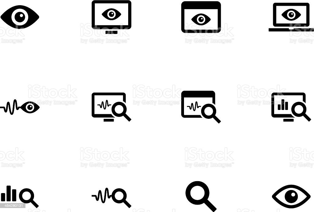 Monitoring icons vector art illustration