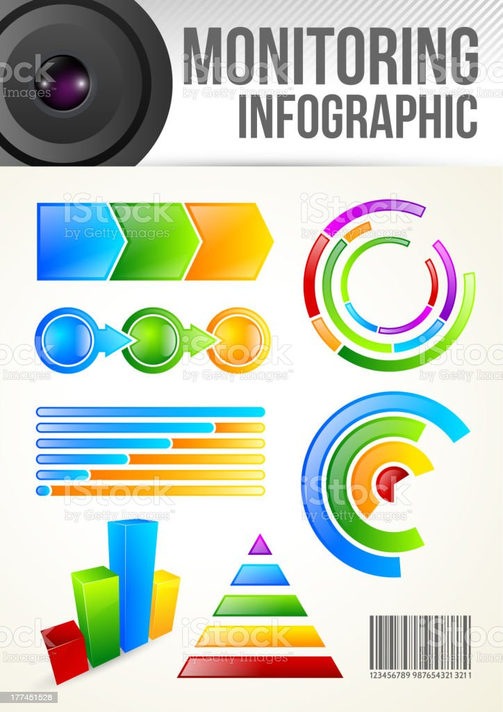 Monitoring Infographic Template royalty-free stock vector art
