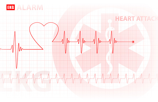 ECG - monitoring of the heart / medical background, vector