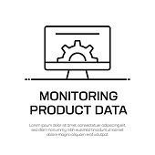 Monitoring Product Data Vector Line Icon - Simple Thin Line Icon, Premium Quality Design Element
